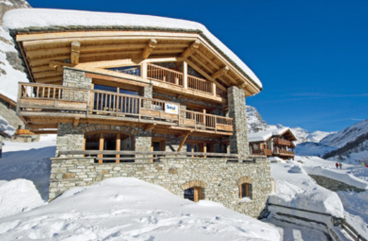 Chalet Bandire in Val d-lsere France in winter
