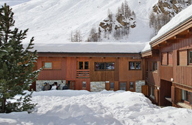 Chalet foxtrot in Courchevel France by day in winter