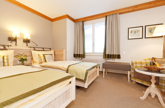 Resort carousel hotel eiger twin bedroom murren switzerland