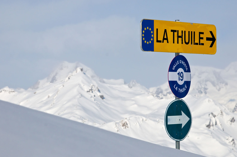 La thuile in winter