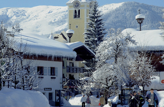 Westendorf Hotel by day in winter