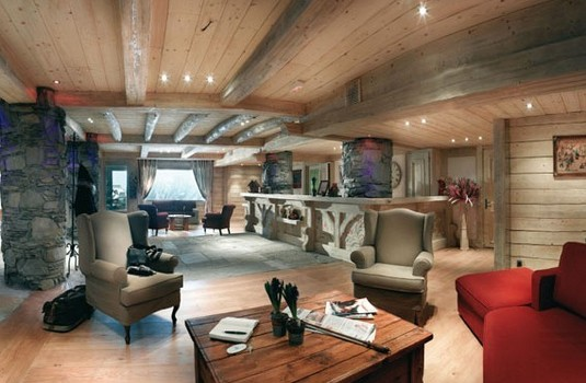 Lounge area of Les Cimes Blanches in La Rosiere France