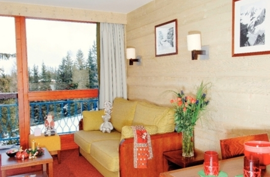 Living room of Residence Le Belmont Apartments in Les Arcs