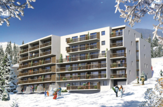 Exterior Facade of Flaine Apartments in France