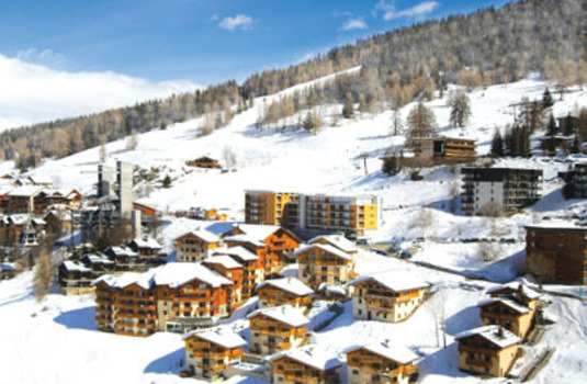 View of Peisey-Vallandry landscape from Chalet Ourson