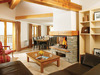 Lounge area of Chalet Ourson in Peisey-Vallandry France