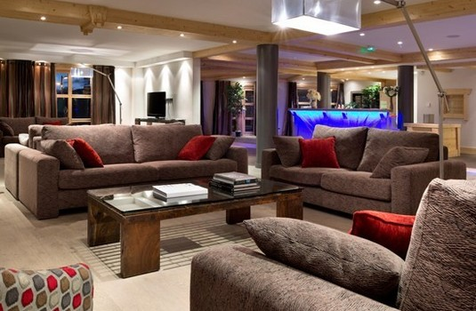 Lounge of Le Cristal Apartments in Alpe d'Huez France