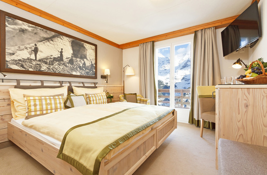 Resort carousel hotel eiger lovely superior double bedroom murren switzerland