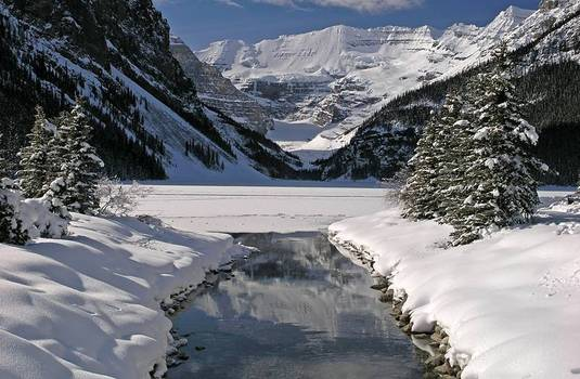 Lake Louise by winter