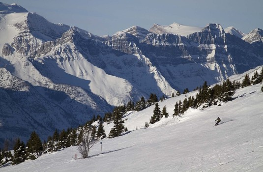 Skiing in Lake Louise by Winter