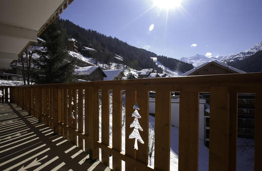 balcony of the chalet de meribel
