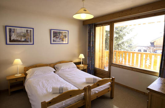 typical bedroom of Chalet de meribel