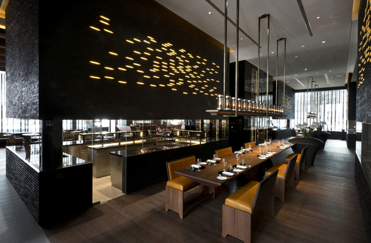 main restaurant of the chedi