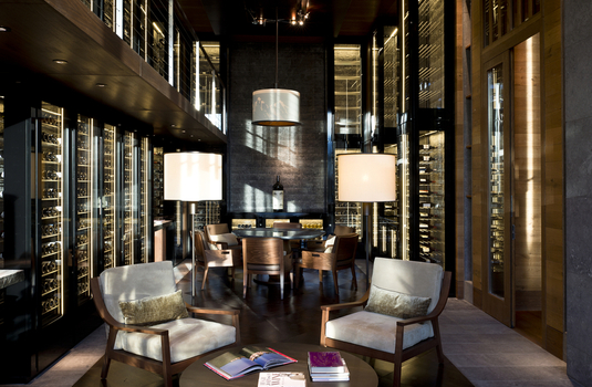Resort carousel wine cellar chedi