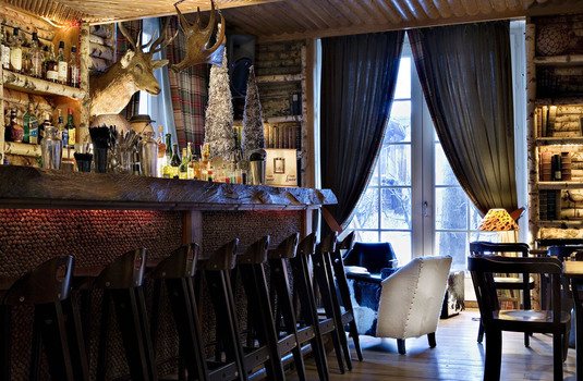 Resort carousel hotel le lodge park megeve bar