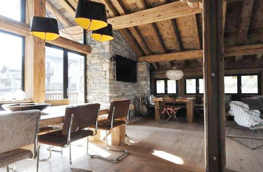 Living of Chalet Vieux Pont