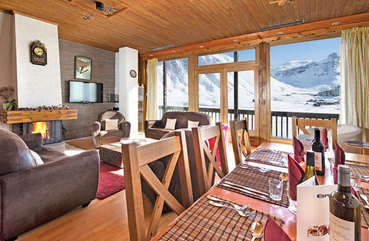 Resort carousel chalet canvolan tignes france living