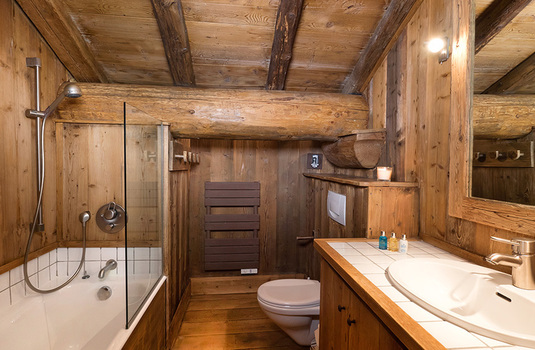 Resort carousel chalet farmhouse val disere bathroom