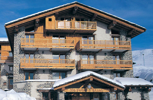 Resort carousel chalet begonia la rosiere exterior