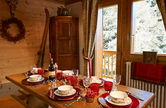 Chalet Annabel dining