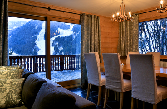 Chalet Sorbier, Meribel - Lounge with a view