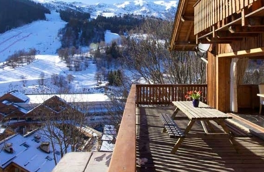 Chalet Sorbier, Meribel - terrace