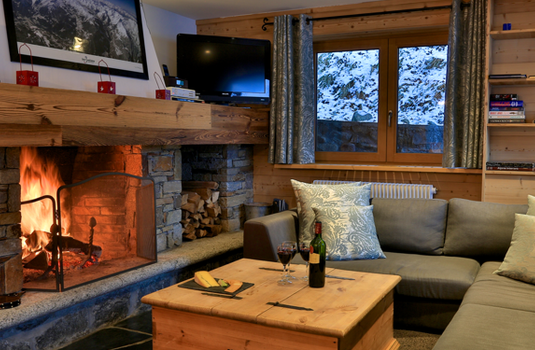 Chalet Sorbier, Meribel - fireplace