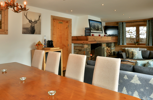 Chalet Sorbier, Meribel - dining area