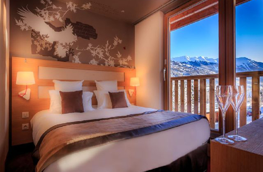 Le Grand Aigle Hotel and Spa double bedroom