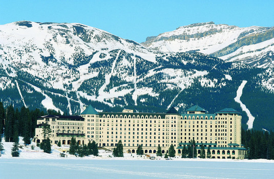 Resort carousel fairmont chateau lake louise winter hotel exterior