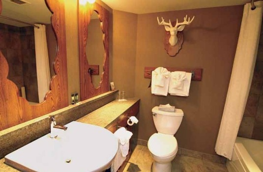 Resort carousel caribou ski   spa lodge bathroom