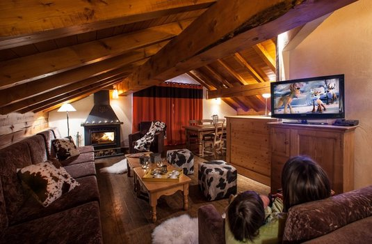Chalet Planton - Living Room