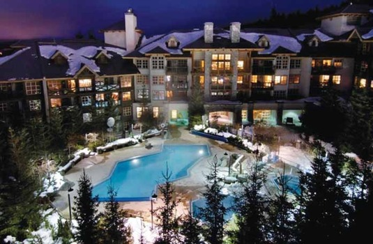 Resort carousel coast blackcomb suites ext night