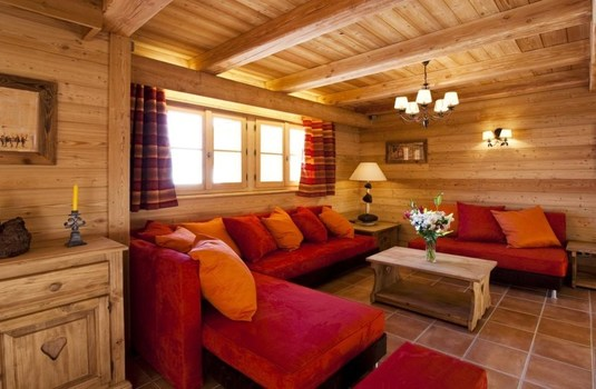 Resort carousel chalet la ferme   living room