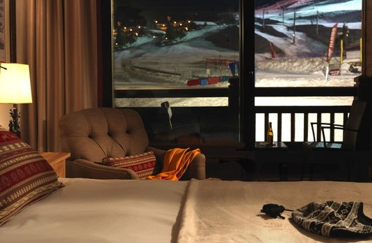 Resort carousel hotel portetta courchevel piste view room