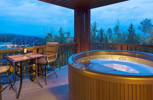 Resort carousel palliser lodge   balcony hot tub