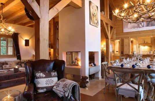Chalet Blanchot - Living Room