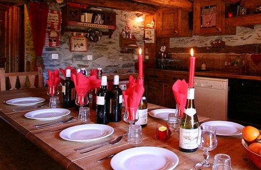 Chalet Le Soli- dining