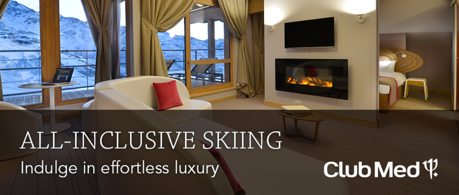 Club Med all-inclusive skiing homepage banner
