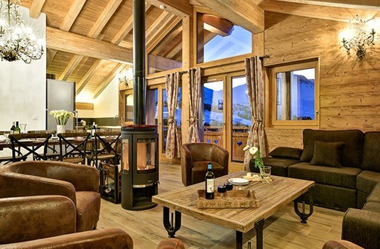 Resort carousel chalet hepatica la plagne sitting room