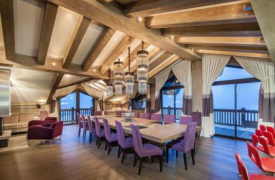 Resort carousel chalet la bergerie dining room