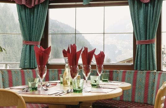 Resort carousel chalet stoanerhof dining view
