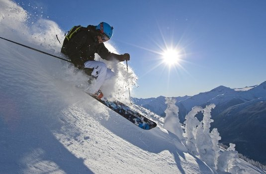 Whistler Skier at 7th Heaven (Photo © Paul Morrison)