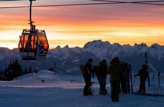 Villars Gondola Sunset
