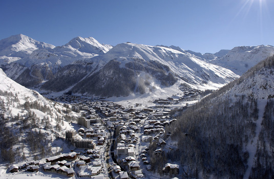 Val d'Isere Village Aerial