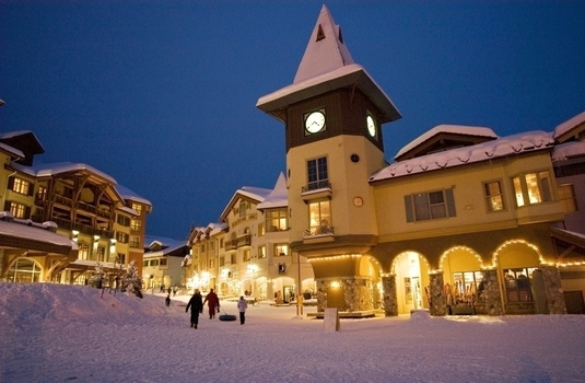 Sun Peaks Village Night