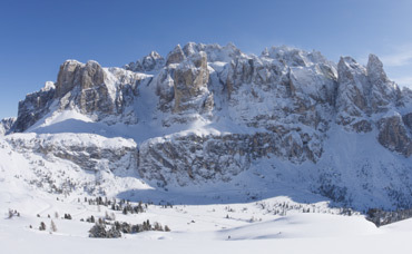 Dolomites on a bluebird day