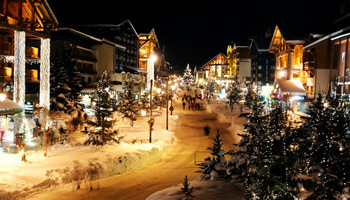 Festive Val d'Isere over Christmas