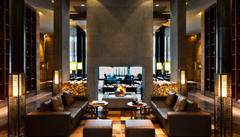 The library at The Chedi Andermatt