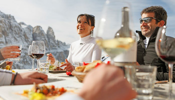 Delicious Italian food in the Dolomites